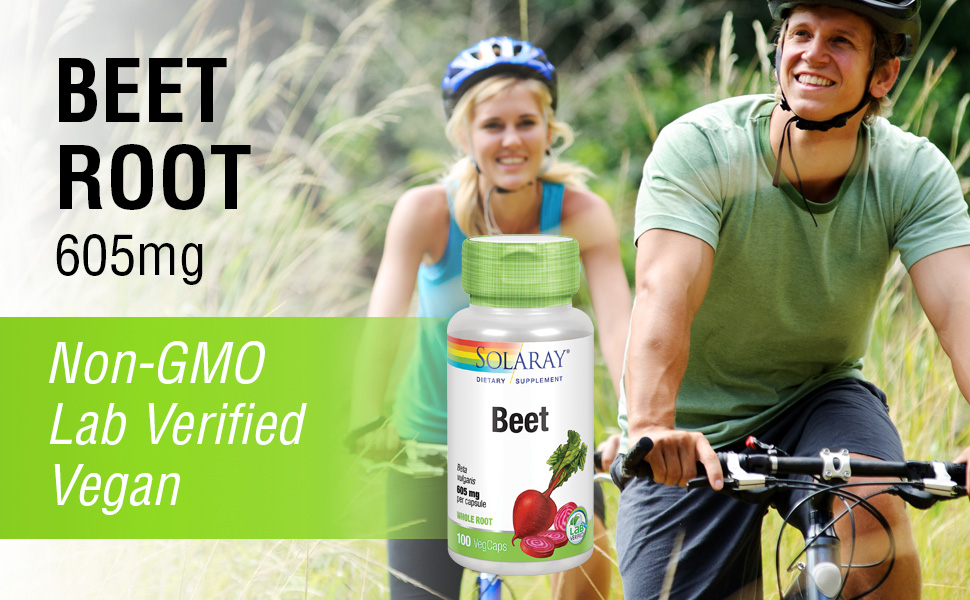 Solaray Beet Root 605mg Cardiovascular Athletic Performance Kidney Liver Blood Health 100 VegCaps