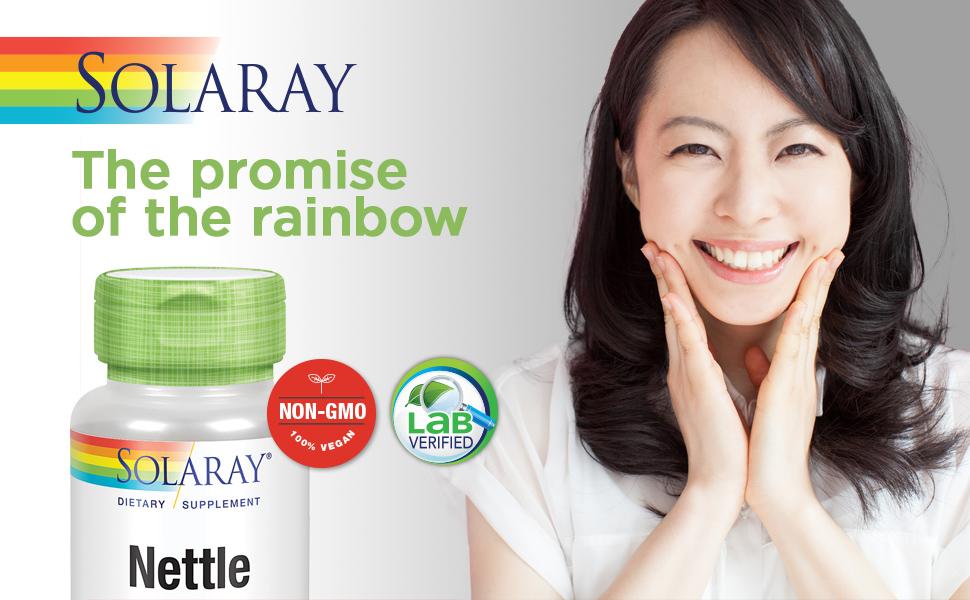 Solaray Nettle Leaf 450mg Vegan, Non-GMO 100 VegCaps