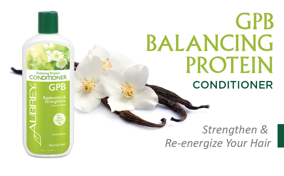 Aubrey GPB Balancing Protein Conditioner Replenishes Strengthens Nourishes Aloe Shea Butter 11oz
