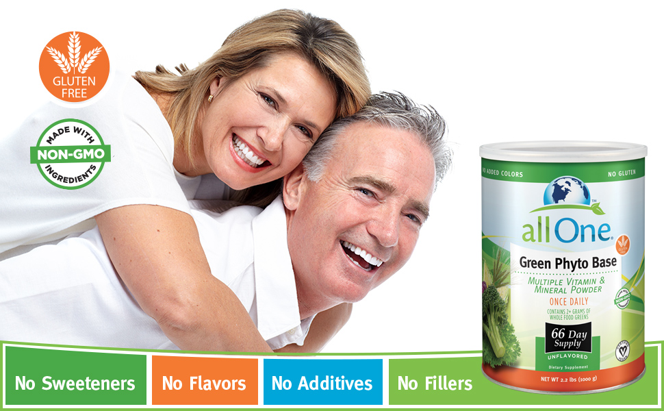 allOne Green Phyto Base Multiple Vitamin and Mineral Powder Unflavored 66 Servings