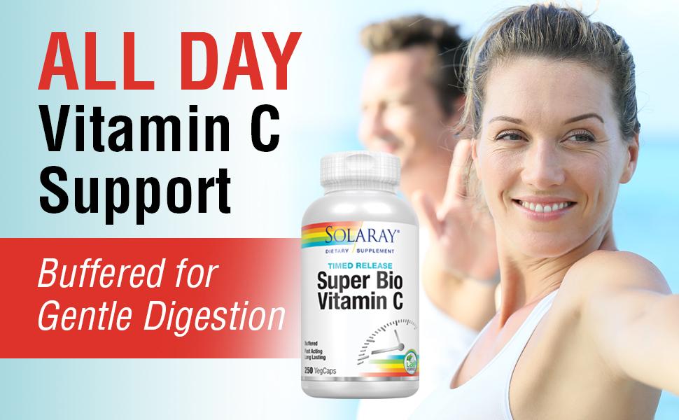 Solaray Super Bio C Buffered Vitamin C w/ Bioflavonoids Timed-Release Formula 250 Ct.