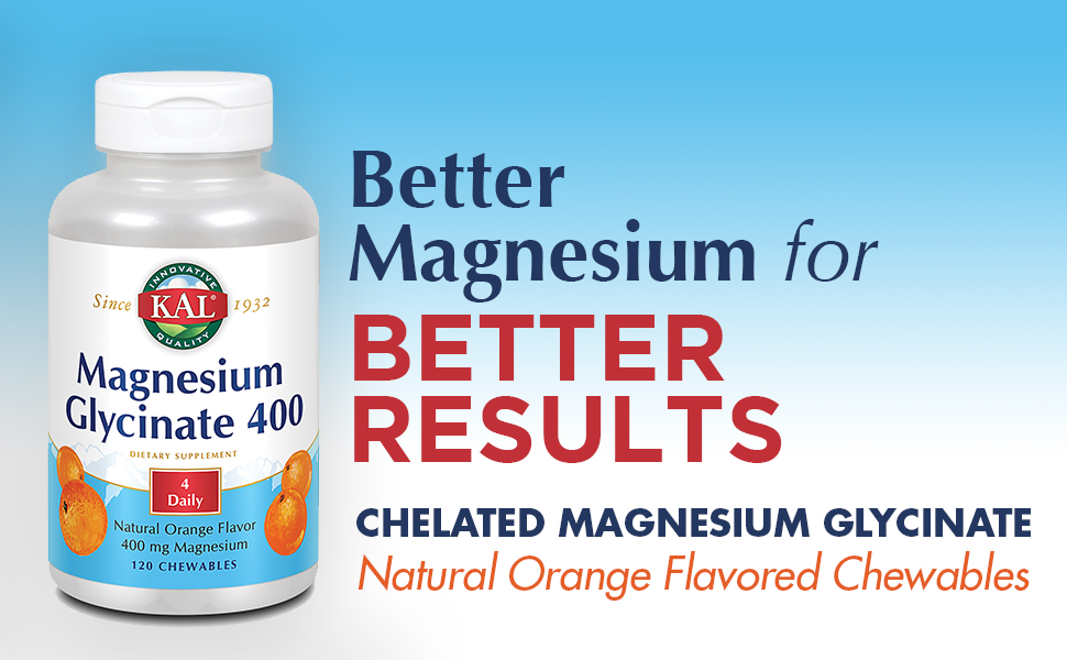 Chelated Magnesium Glycinate Natural Orange Flavored Chewables