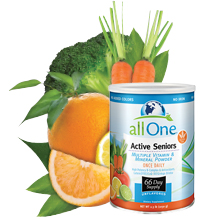 allOne Multiple Vitamin & Mineral Powder Active Seniors Once Daily Amino Acid 4g Protein 66 Servings