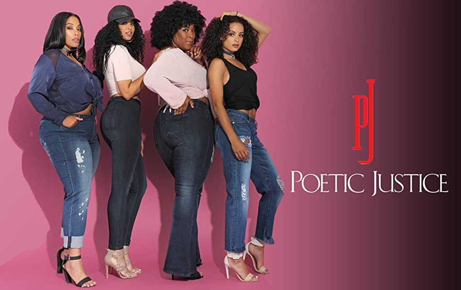 567abee24db Poetic Justice Plus Size Women s Curvy Fit Cropped Frayed Boyfriend ...