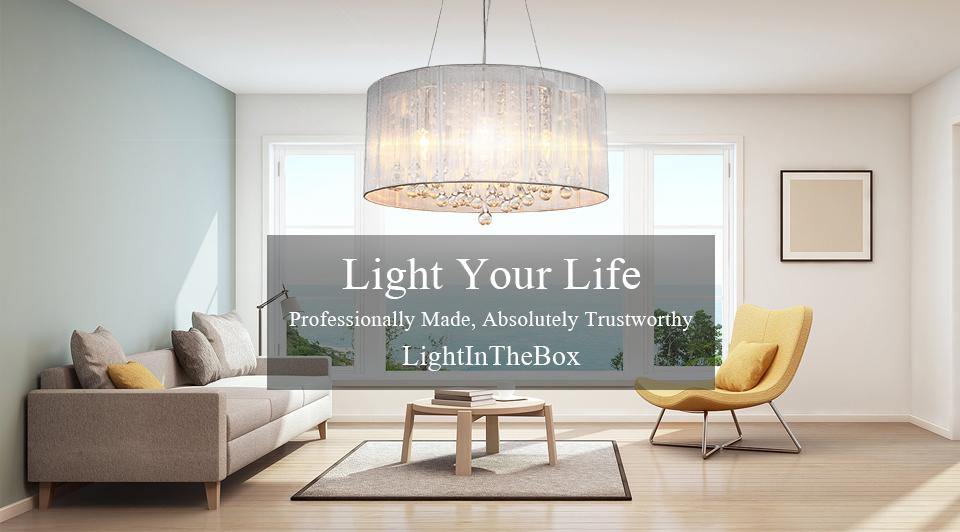 LightInTheBox Modern Silver Crystal Pendant Light in Cylinder Shade