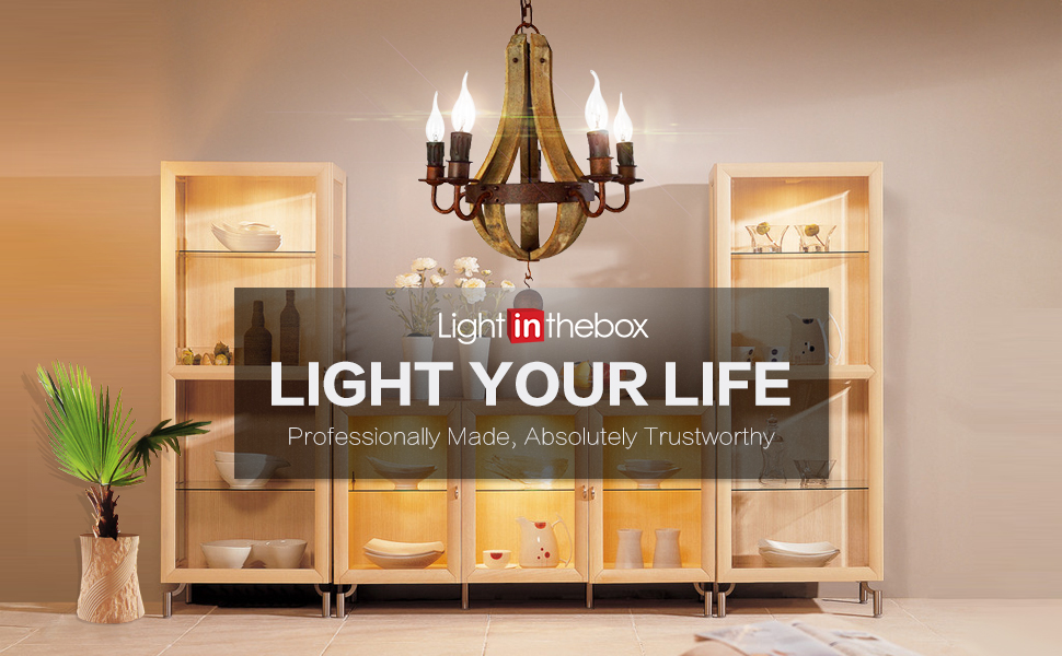 Every light from LightInTheBox will make you discover the magic of crystal and light up your life particuliarly glamorous. & LightInTheBox Vintage Amercian Rustic Wooden Pendant Wine Barrel ... Aboutintivar.Com