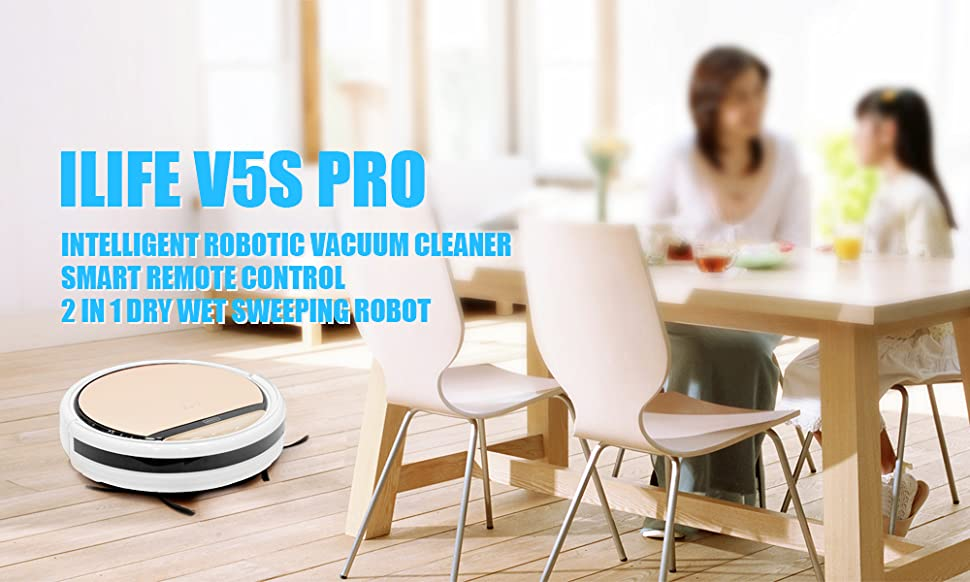 ILIFE V5S Pro Intelligent Robotic Vacuum Cleaner is an essential household cleaning machine. With Intelligent Anti-collision System Sensor, it can prevent ...