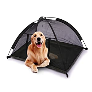 Durable Pet C&ing Tent-Keep Your Pets Safe And Comfortable  sc 1 st  Amazon.com & Amazon.com : Pettom Dog Cat Camping Tents Pet Travel Bed Pop Up ...