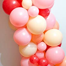blush colored party balloons, peach balloon pack, coral balloon set, baby pink balloons for party