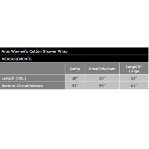 women wrap size chart