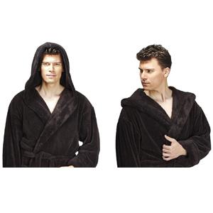 premium soft bathrobe with hood