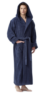 0e23c61bb0 Arus Men s Hood n Full Ankle Length Hooded Turkish Cotton Bathrobe ...