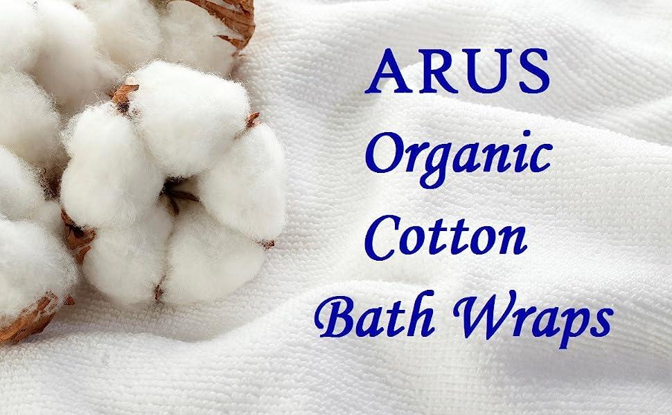 arus organic cotton bath wraps