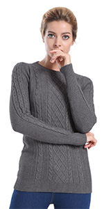 ninovino Women s Crew Neck Tunic Sweater · ninovino Women  s Turtleneck  Pullover Winter Knitwear · ninovino Women s Crew NeckKnit Contrast Sweater  ... 249638ef5