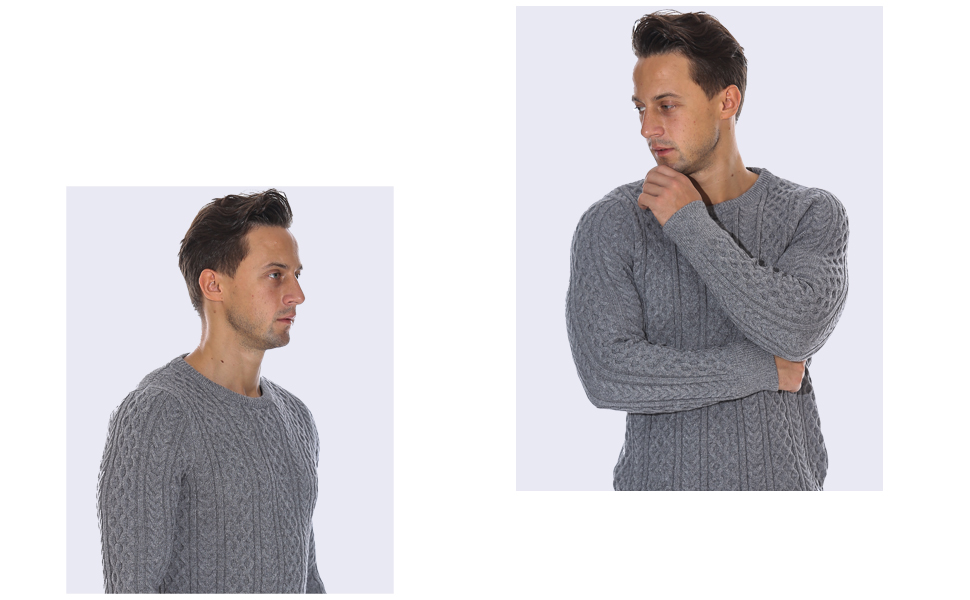 ninovino Mens Sweater Casual Slim Fit Knitted Turtleneck Pullover