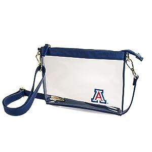 University of Arizona, Wildcats, Clear Crossbody Bag, Clear Purse, Capri Designs, Clear, Purse, bag