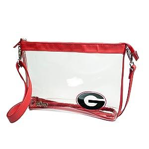 University of Georgia, Crossbody Bag, Clear Bag, Clear Purse, Capri Designs, Capridesigns
