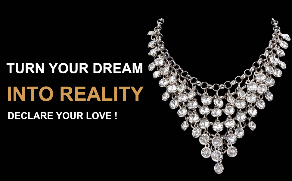 Diamante Bib Necklace Tiny Silver Rhinestones Vintage Collar Crystal Jewellery