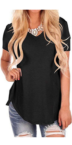 Short Sleeve T Shirt V Neck