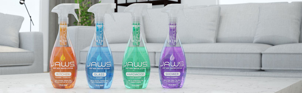 jaws home cleaning kit, cleaning supplies, cleaning products, cleaners, non toxic cleaners