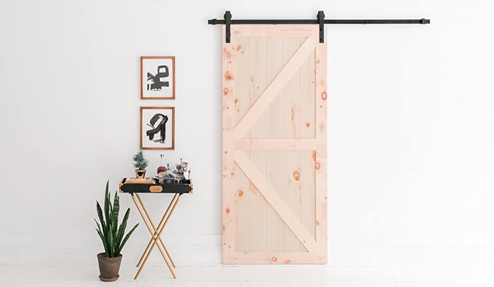 6foot 7inch barn door hardware kit from industrial by design