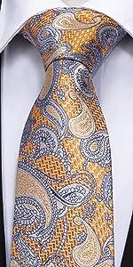Orange Paisley Ties
