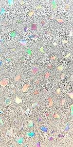 3D Window Film Color Gems Privacy Window Film