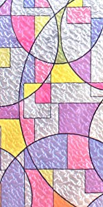 Stained Glass Film Geometric Circle Pattern