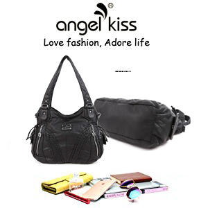 Amazon.com: Bolso Angelkiss para mujeres, con asa superior ...