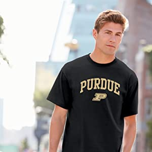UGP Campus Apparel NCAA Arch Logo T Shirt Purdue Boilermakers Black