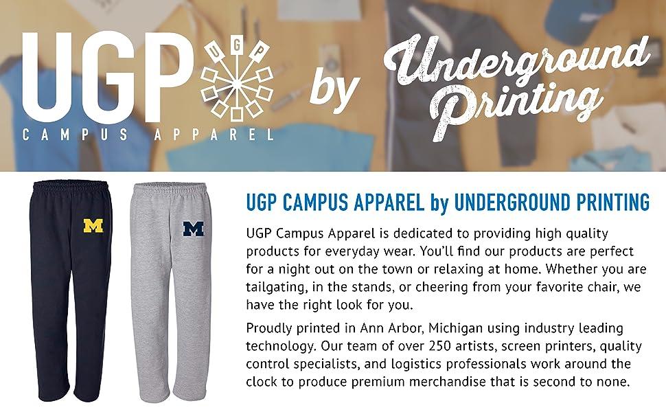 Navy, Genuine Stuff Michigan Wolverines Youth Medium School Logo Pajama Pants