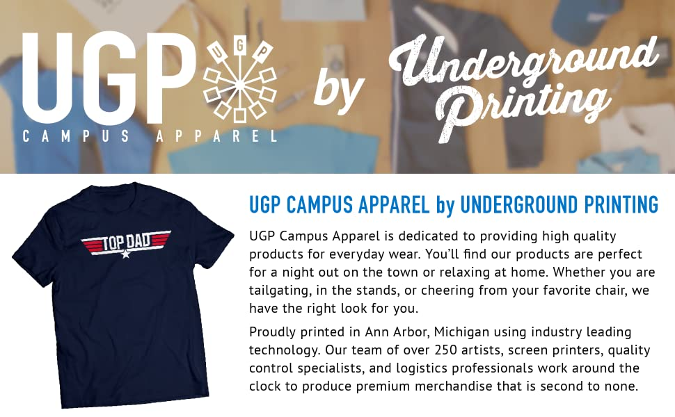 139848a8 UGP Campus Apparel by Underground Printing Top Dad Father's Day Papa Pops  Grandfather T Shirt