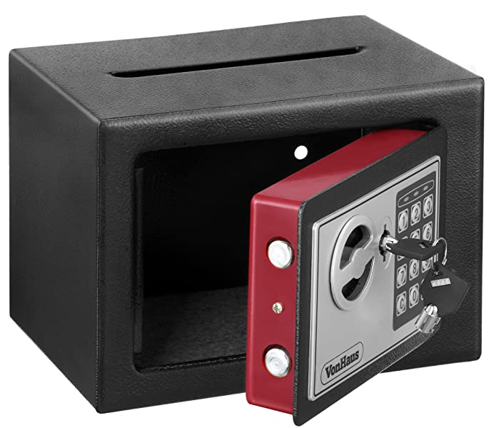 Vonhaus Solid Steel Safe Small 6 3lbs Compact Electronic