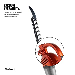 vonhaus 2 in 1 corded bagless lightweight stick vacuum cleaner and handheld vacuum. Black Bedroom Furniture Sets. Home Design Ideas