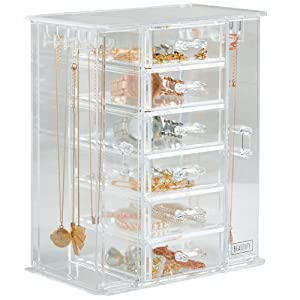 beautify acrylic jewelry organizer chest