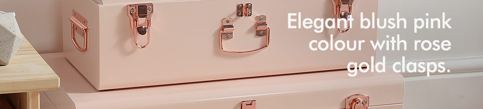 Amazon.com: Beautify Blush Pink Vintage Style Steel Metal Storage ...