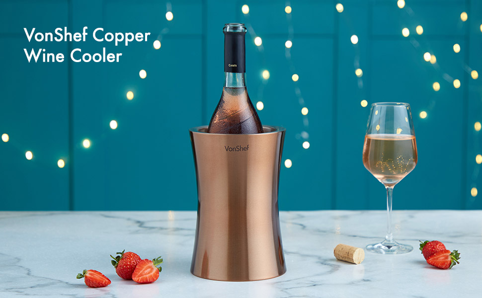 copper wine cooler chiller stainless steel insulated double walled