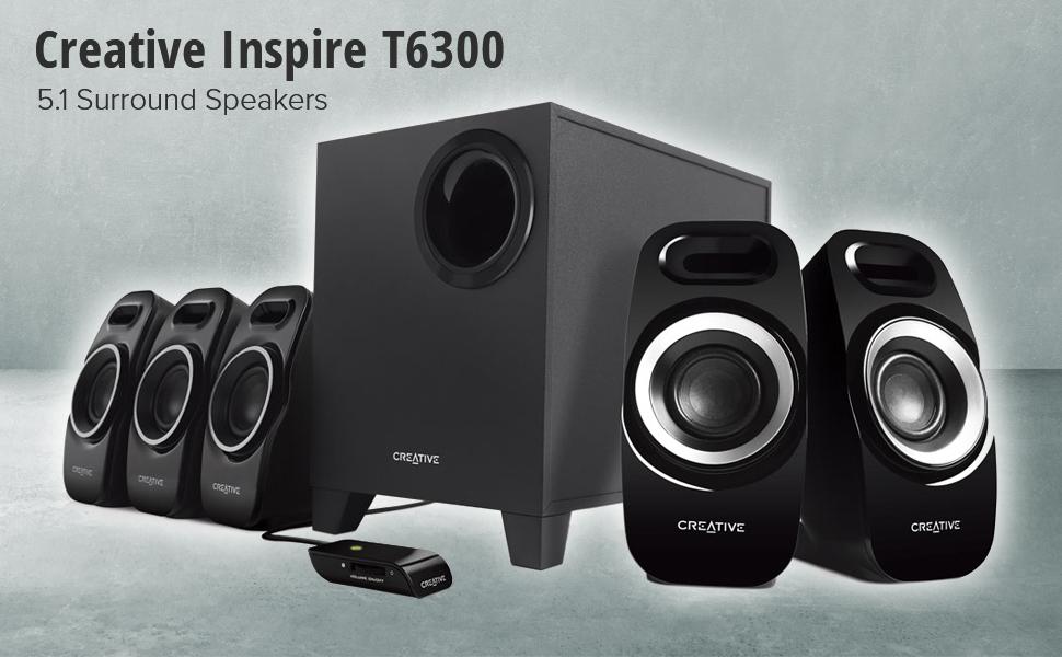 Creative Inspire T6300 5.1 Surround Speakers