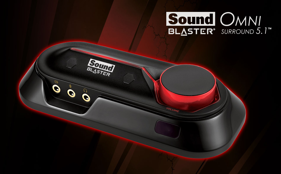 Sound Blaster Omni Surround 5.1 - USB Sound Card with 600 Ohm Headphone Amp