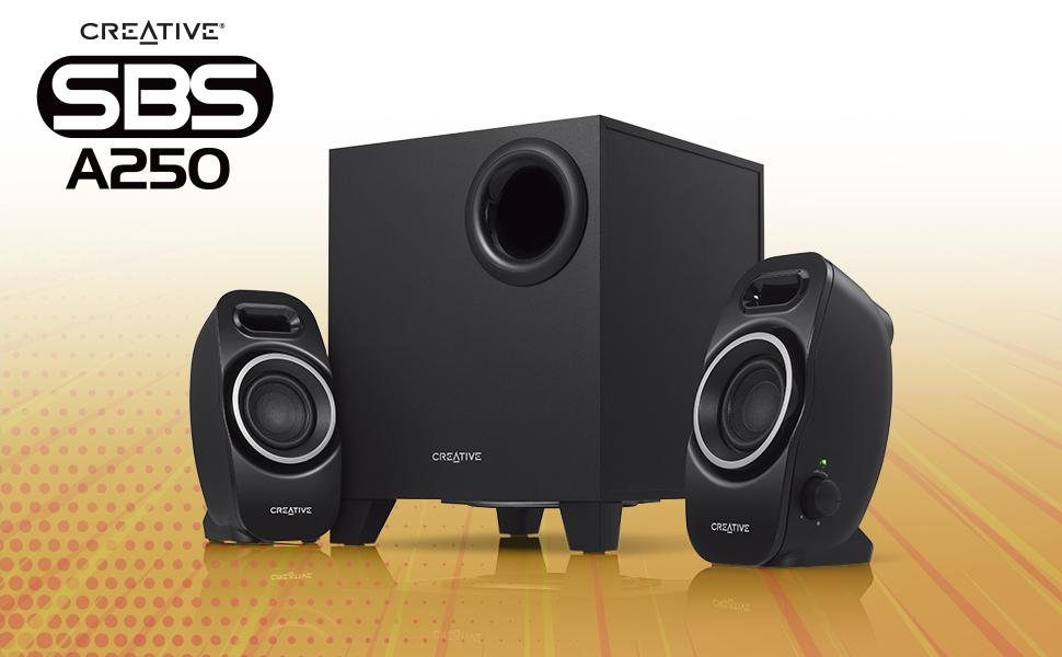 Creative SBS A250 - 2.1 Multimedia Speaker System