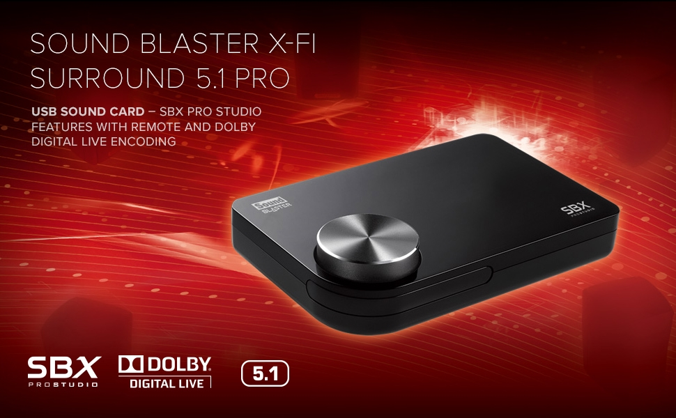 Creative Sound Blaster X-Fi Surround 5 1 Pro USB Sound Card for Computers  and laptops