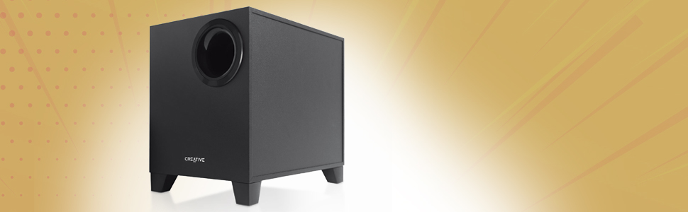 Largest-in-class, down-firing subwoofer