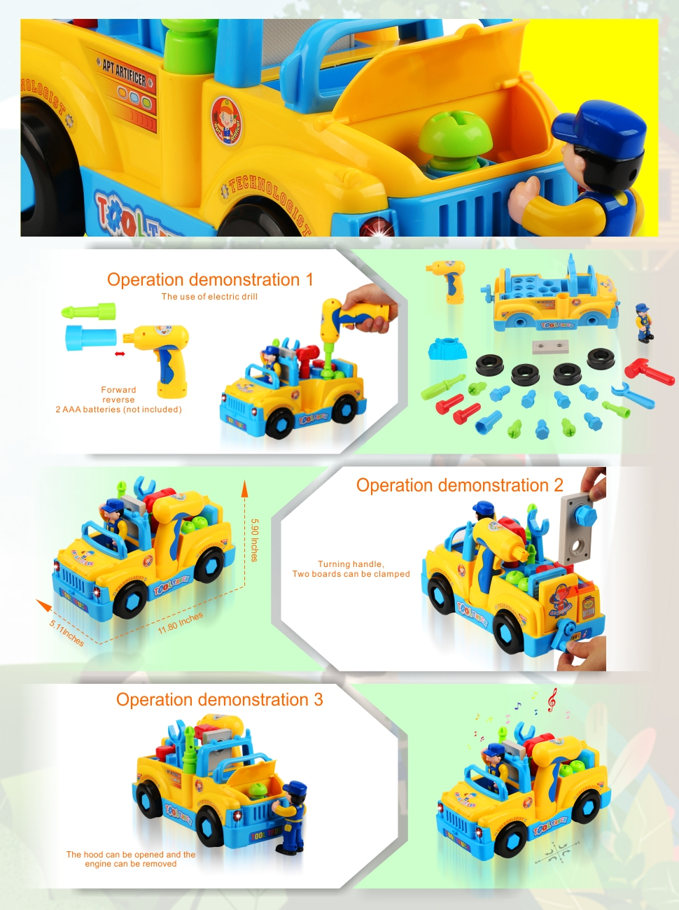 amazon com quadpro truck take apart toys for boys with