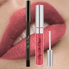 nude pink long lasting lipstick liner pencil set matte long lasting