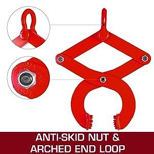 Anti-skid Nut amp; Arched End Loop