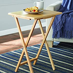 Folding TV Tray & Snack Table - Natural