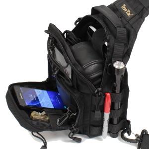 TravTac Sling Bag with Sample items