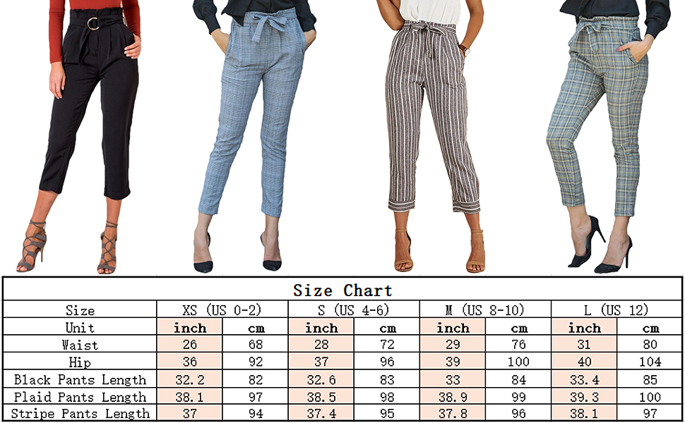 1f8c75f82ba92 Tie waist pants, Paperbag pants, Cropped pants, Casual pants, Ankle length  pants, Tapered pants.