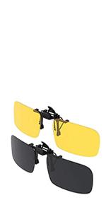 Dooppa Gafas de sol polarizadas con clip para gafas de miop/ía