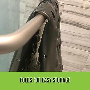 folded extra large shower mat